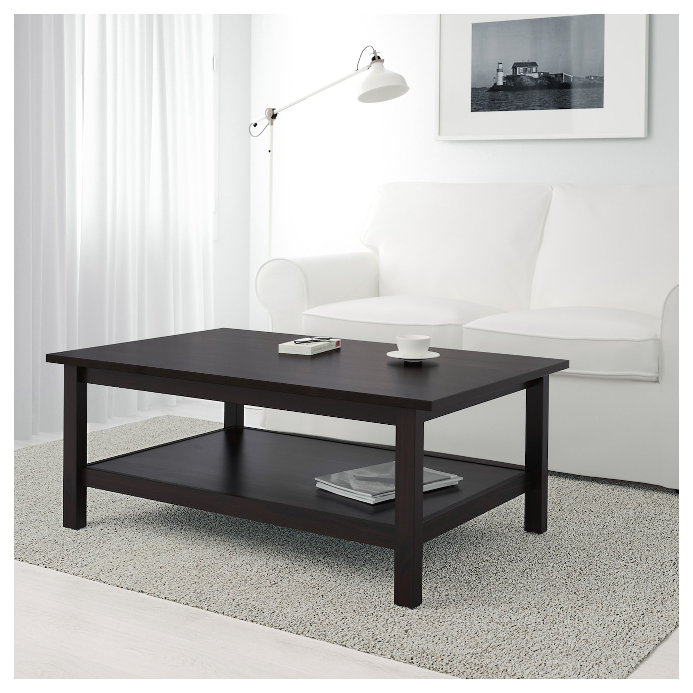HEMNES Coffee Table Black-brown 118x75 Cm