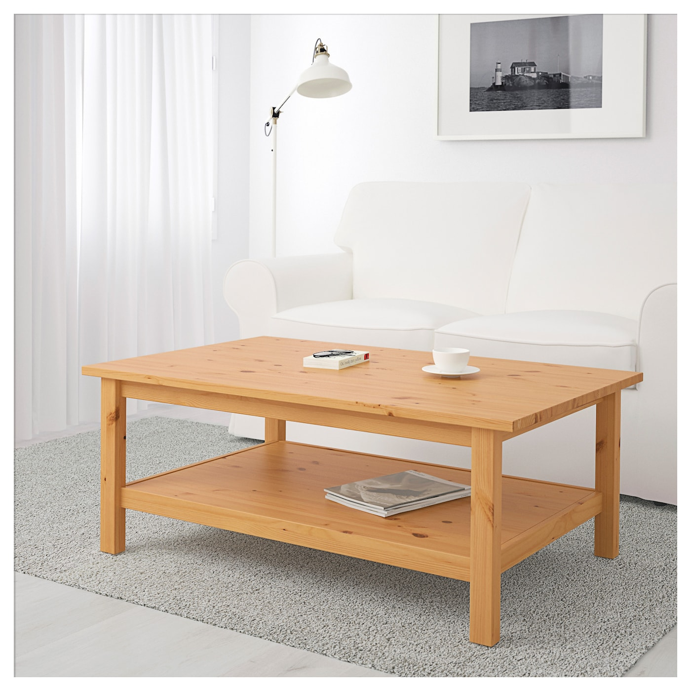 hemnes coffee table light brown 118 x 75 cm ikea. Black Bedroom Furniture Sets. Home Design Ideas