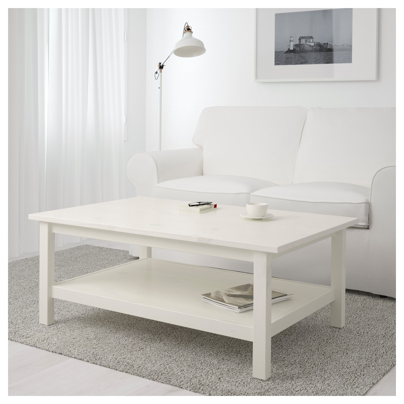 Hemnes Side Table Black Brown 55x55 Cm: HEMNES Coffee Table White Stain 118 X 75 Cm
