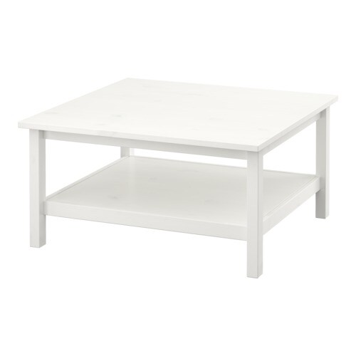HEMNES Coffee table IKEA Solid wood has a natural feel.  Separate shelf for magazines, etc.