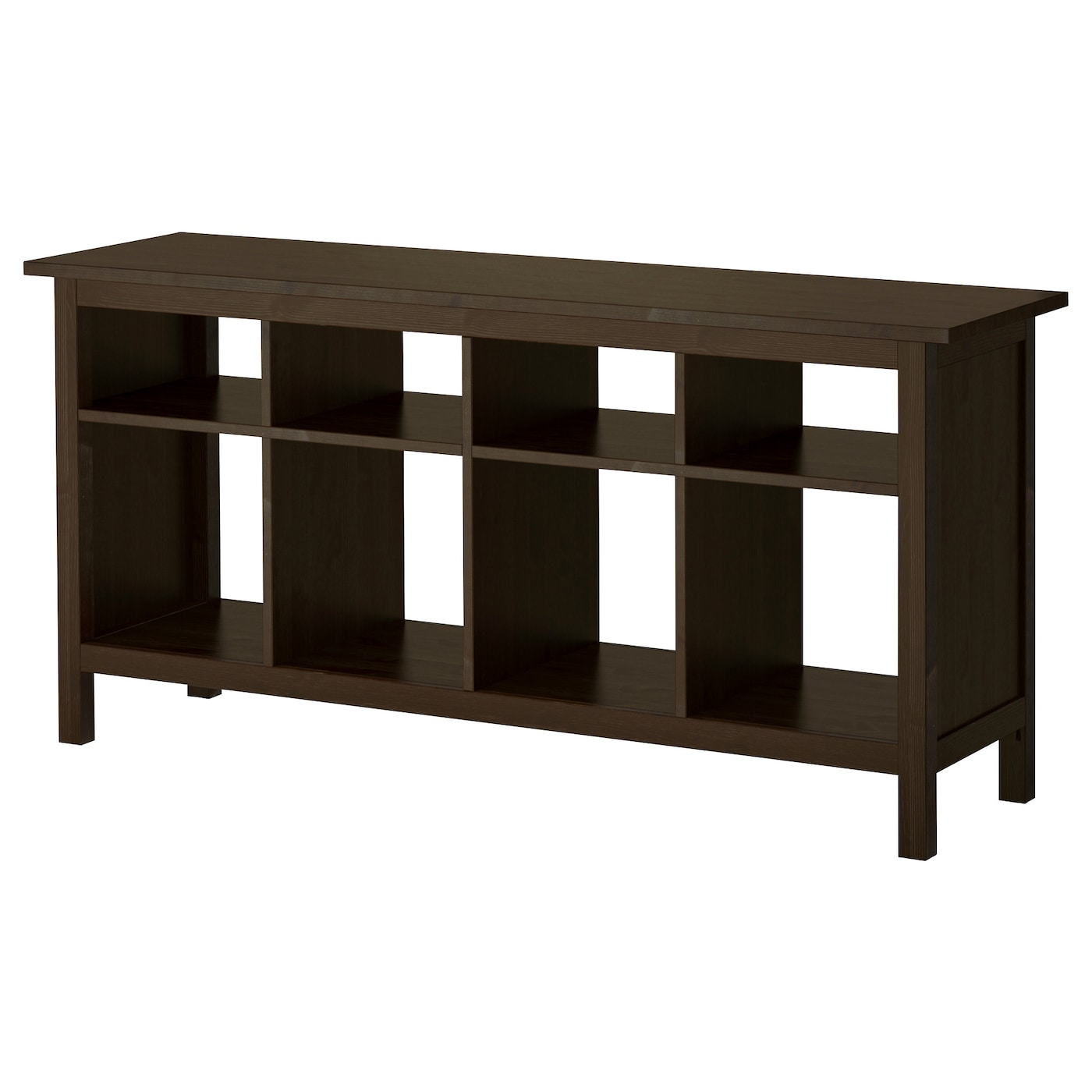 Hemnes console table black brown 157 x 40 cm ikea for Ikea comodino hemnes