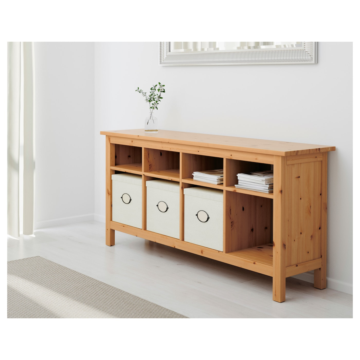 hemnes console table light brown 157 x 40 cm ikea. Black Bedroom Furniture Sets. Home Design Ideas