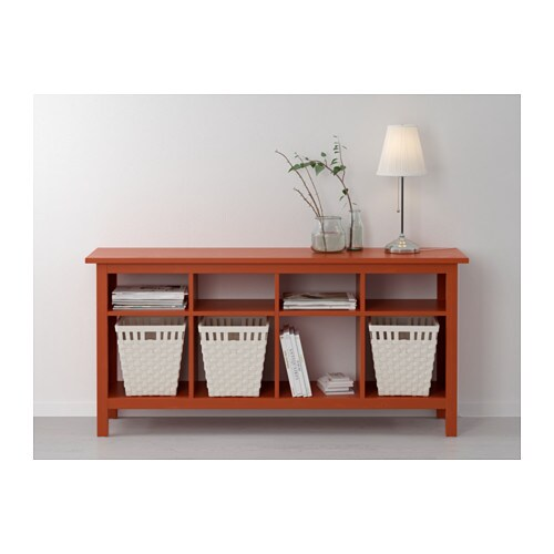 Hemnes console table redbrown 157x40 cm ikea - Ikea table console extensible ...