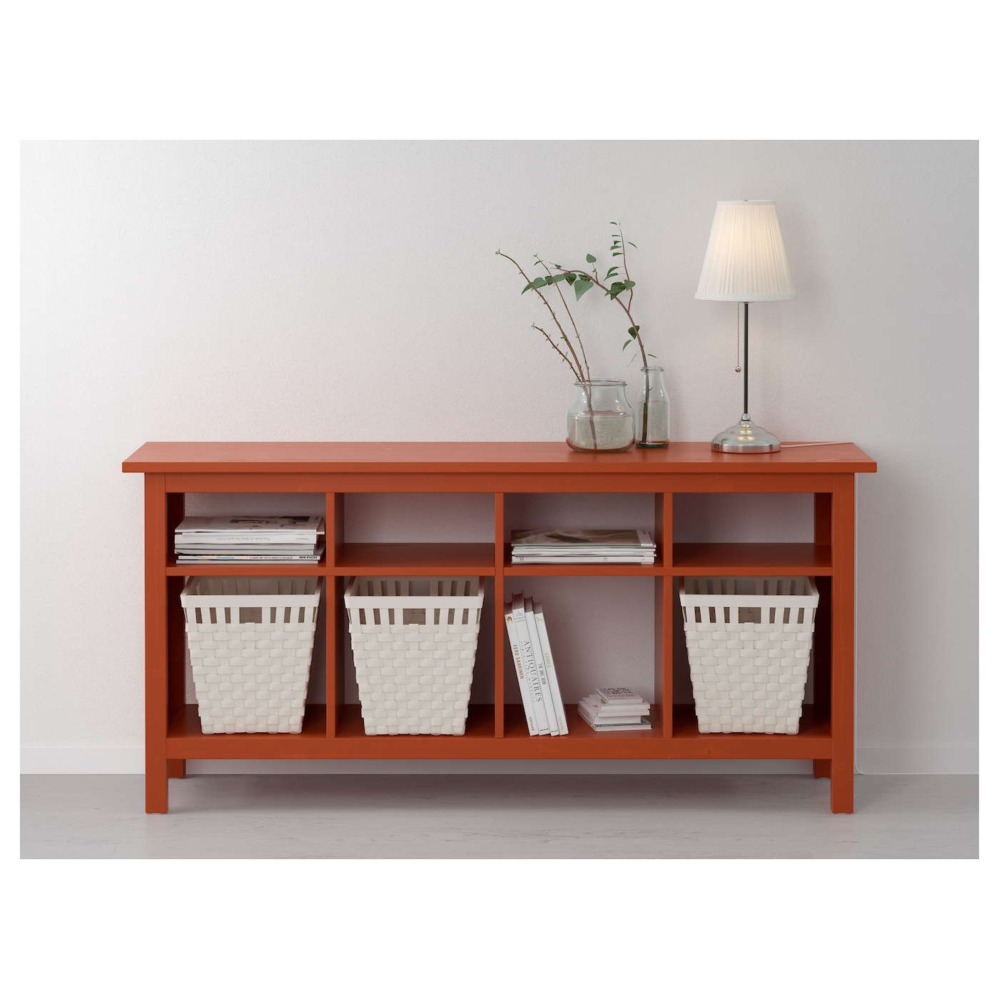 hemnes console table redbrown 157x40 cm ikea. Black Bedroom Furniture Sets. Home Design Ideas