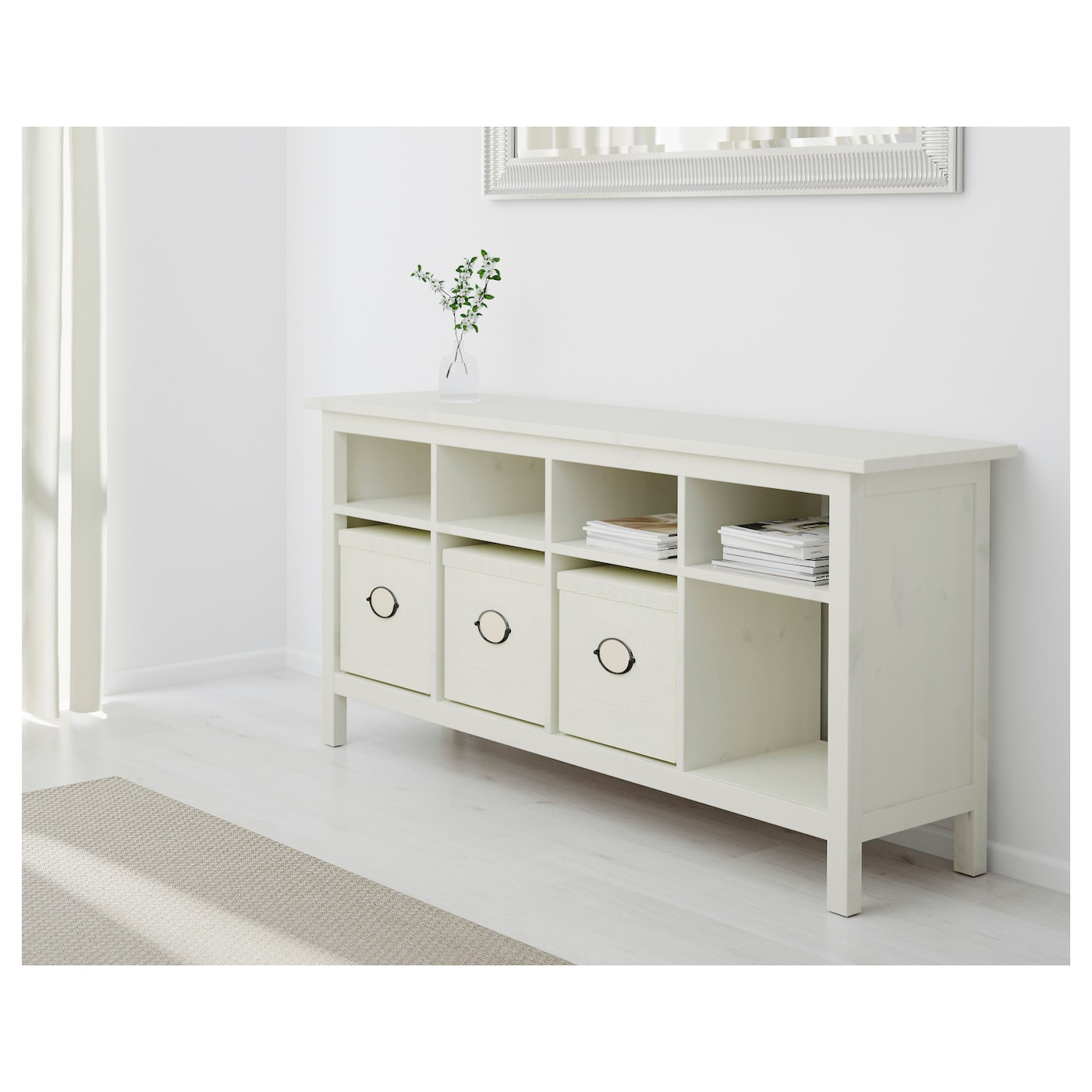 hemnes console table white stain 157 x 40 cm - ikea
