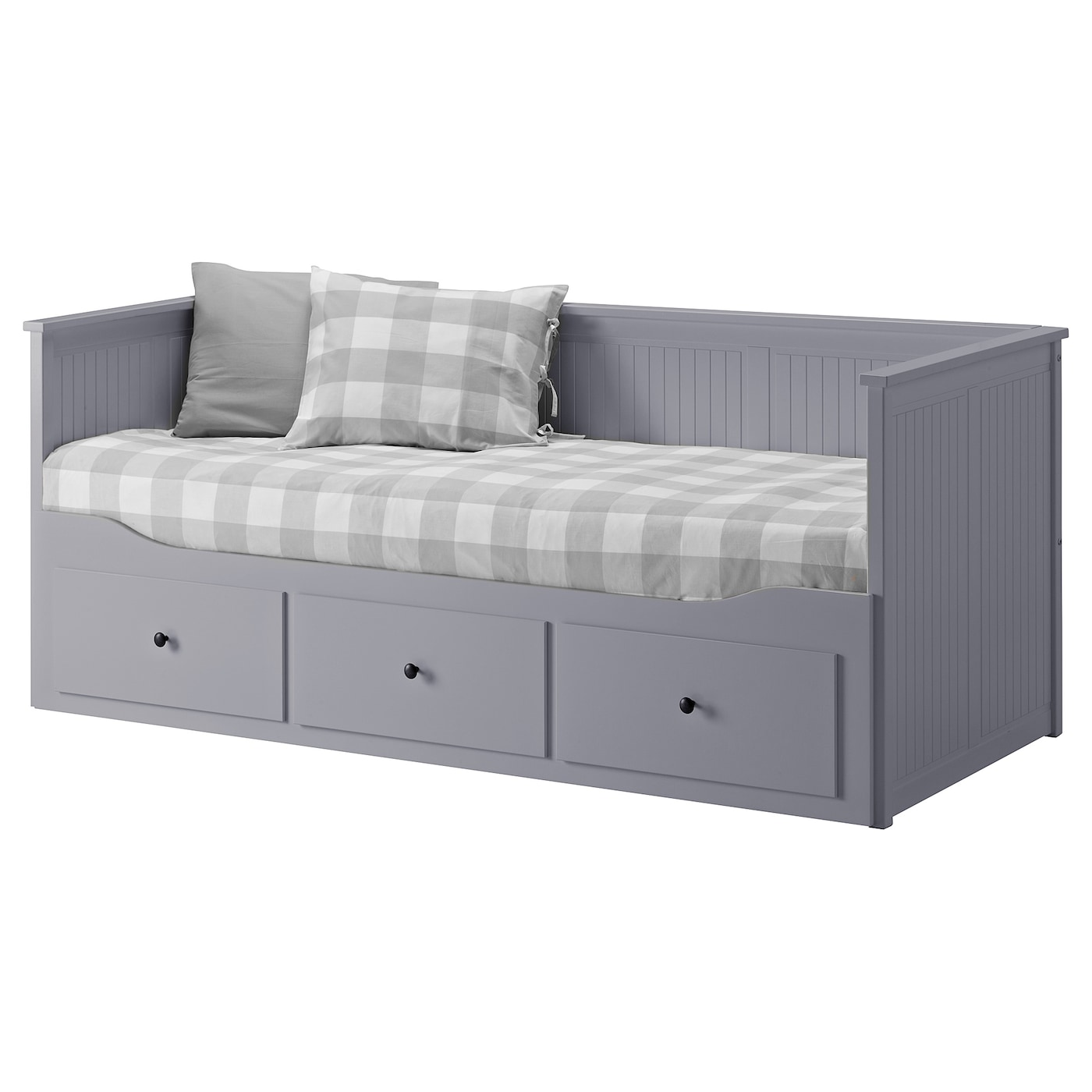 HEMNES Day bed frame with 3 drawers Grey 80x200 cm IKEA