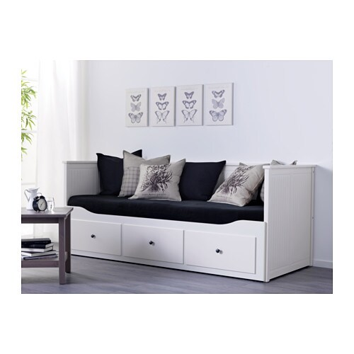 hemnes day bed w 3 drawers 2 mattresses white moshult firm 80x200 cm ikea. Black Bedroom Furniture Sets. Home Design Ideas