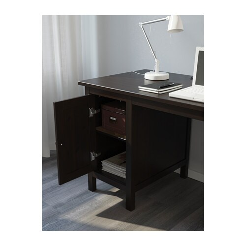 IKEA HEMNES desk Cable outlet for easy cable management. Solid wood is a durable natural material.