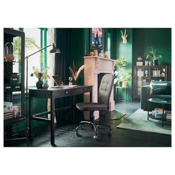 HEMNES black brown, Desk with 2 drawers