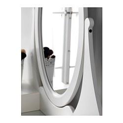 Hemnes dressing table with mirror white 100x50 cm ikea for Miroir lumineux ikea