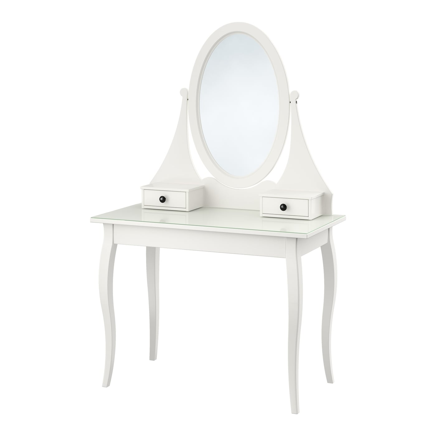 Hemnes dressing table with mirror white 100 x 50 cm ikea for Table de toilette acrylique ikea