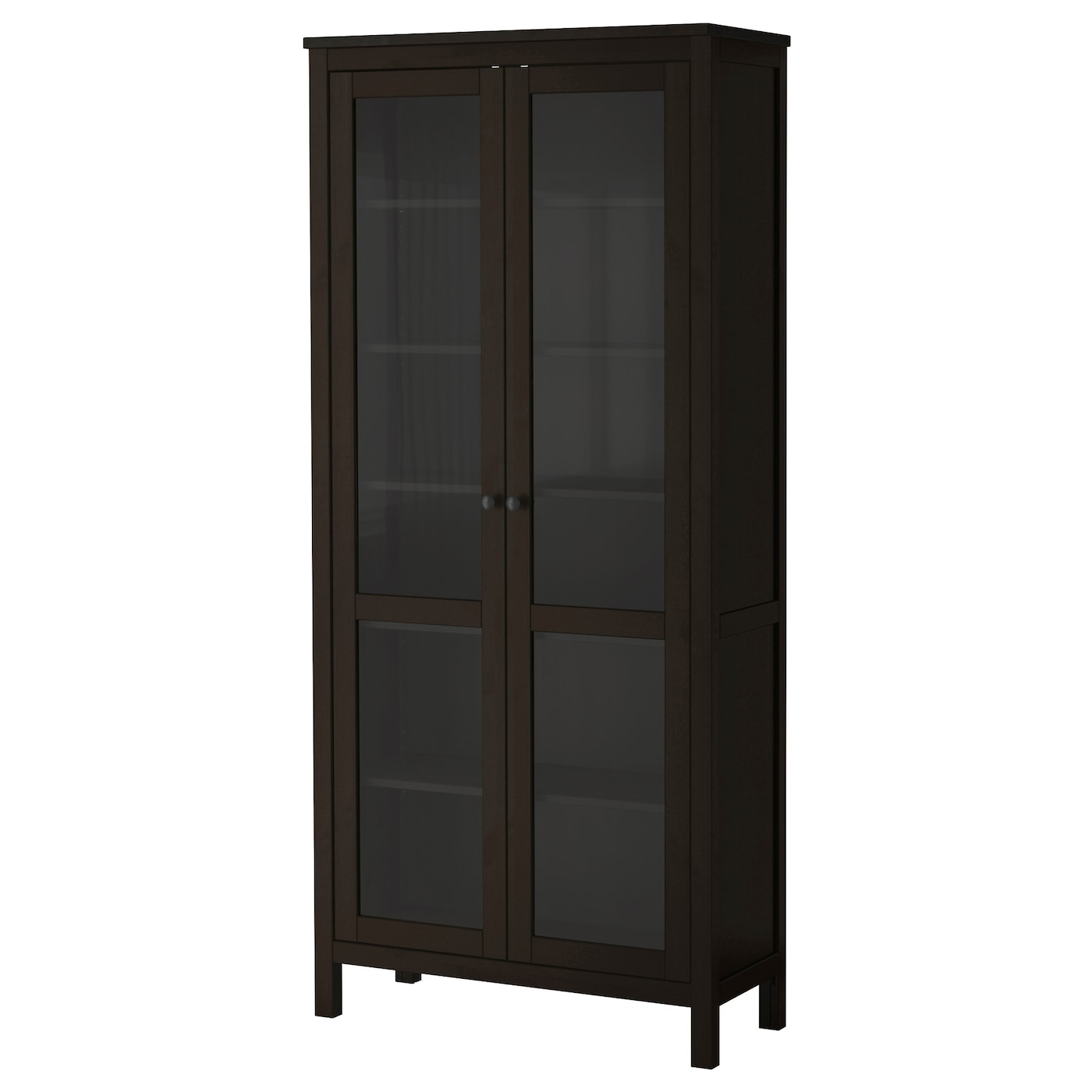 IKEA HEMNES Glass Door Cabinet Solid Wood Has A Natural Feel. 1 Fixed Shelf