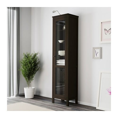 Ikea Aneboda Kommode Neupreis ~ IKEA HEMNES glass door cabinet Solid wood has a natural feel 1 fixed