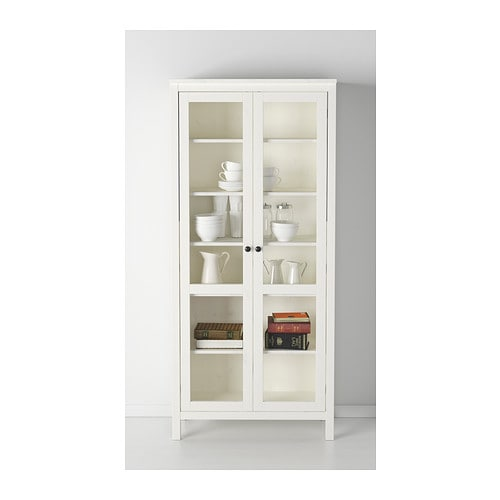hemnes glass door cabinet white stain 90x197 cm ikea. Black Bedroom Furniture Sets. Home Design Ideas