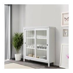 hemnes glass door cabinet white stain 120x130 cm ikea. Black Bedroom Furniture Sets. Home Design Ideas