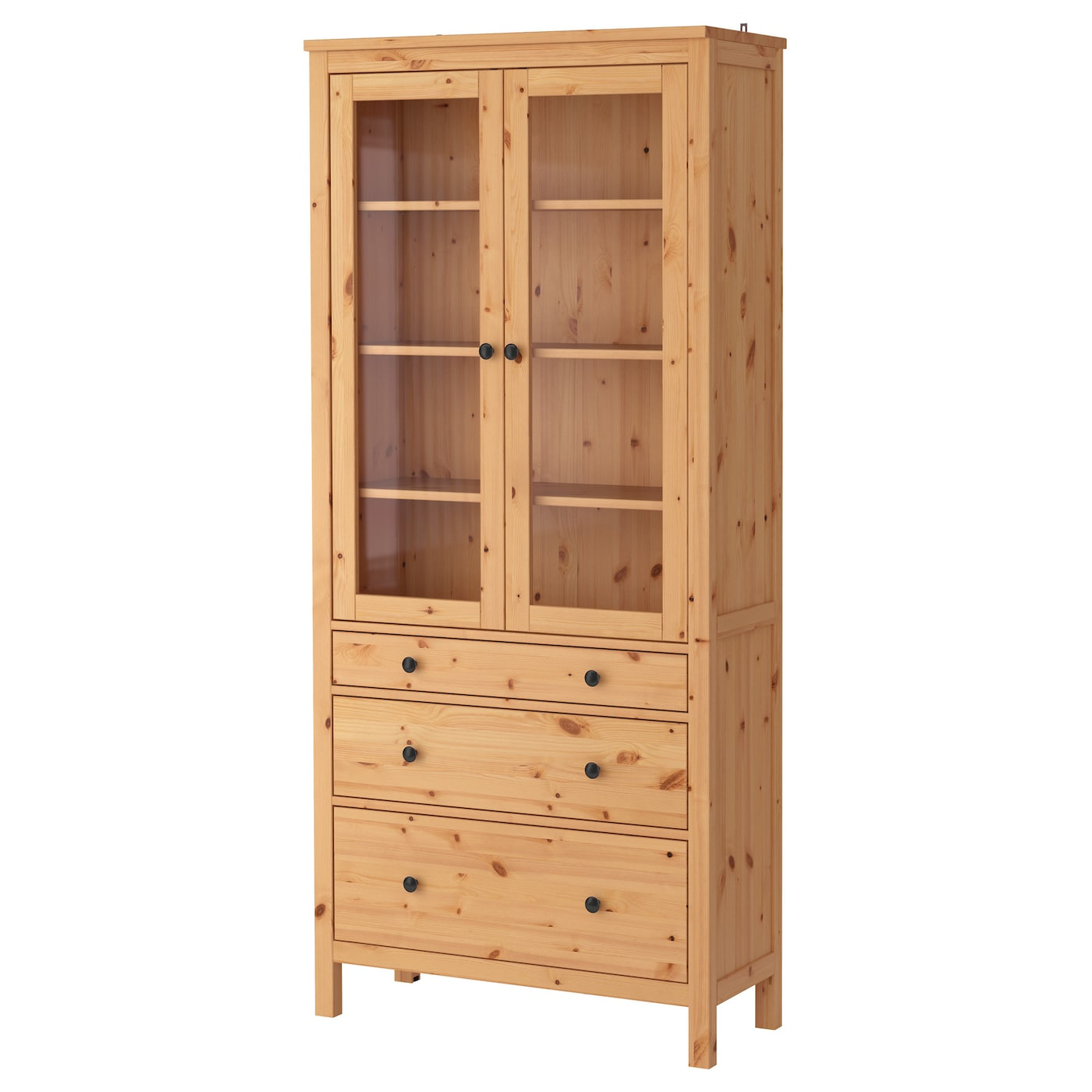 Ikea Aneboda Kommode Neupreis ~ IKEA HEMNES glass door cabinet with 3 drawers Solid wood has a natural