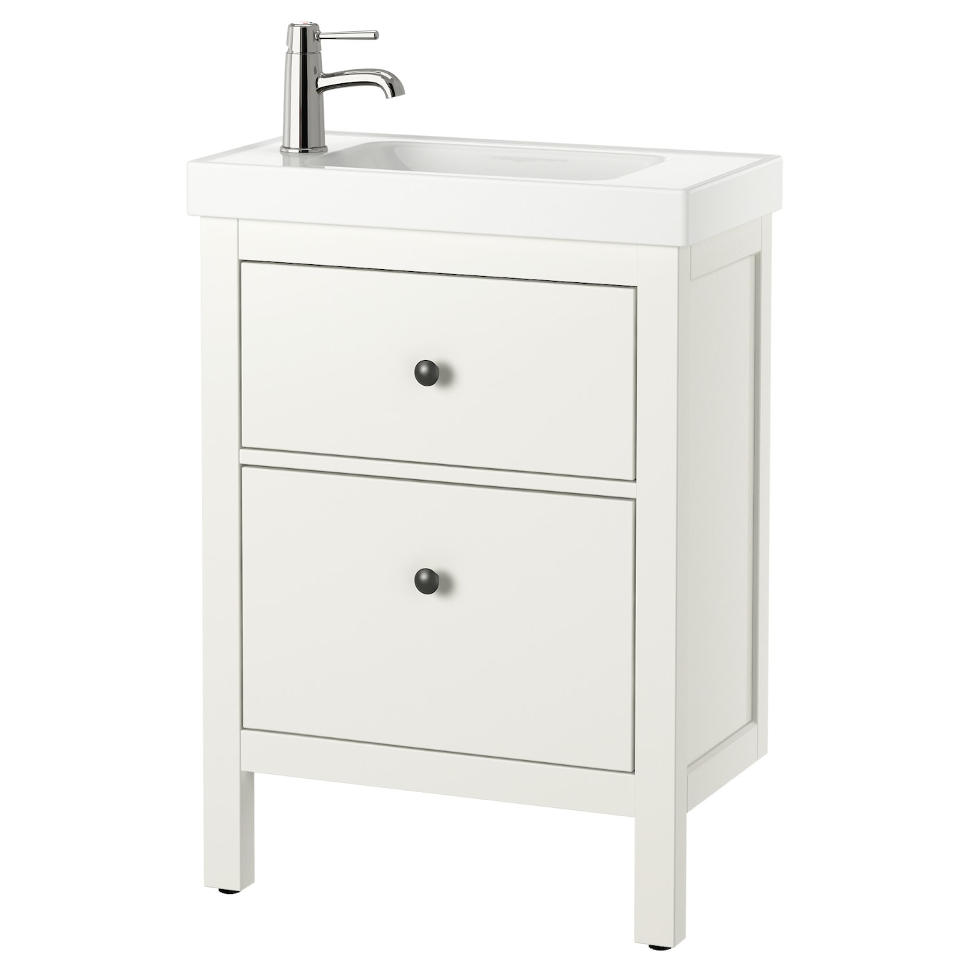 Hemnes hagaviken wash stand with 2 drawers white 60x34x90 for Evier salle de bain ikea