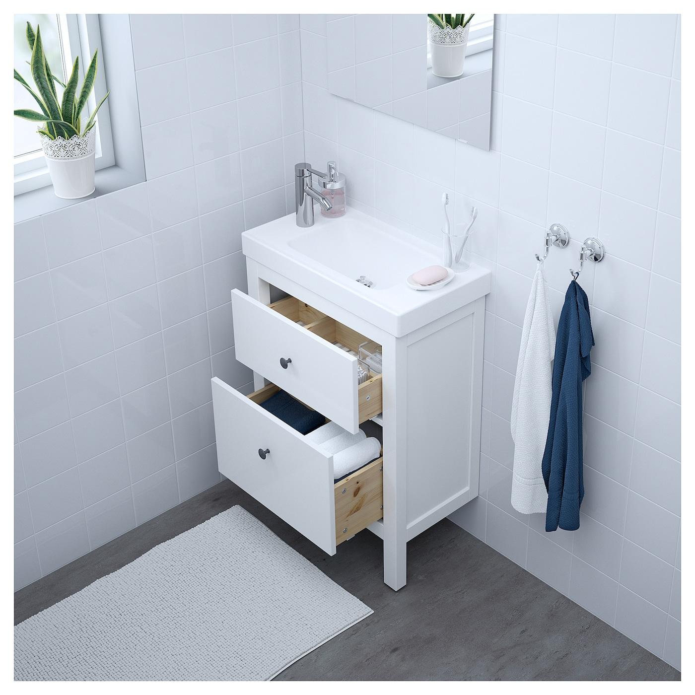 HEMNES/HAGAVIKEN Wash-stand with 2 drawers White 63 x 34 x 90 cm - IKEA