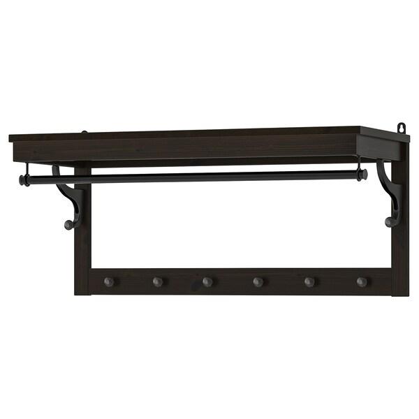 HEMNES Hat rack, black-brown, 85 cm