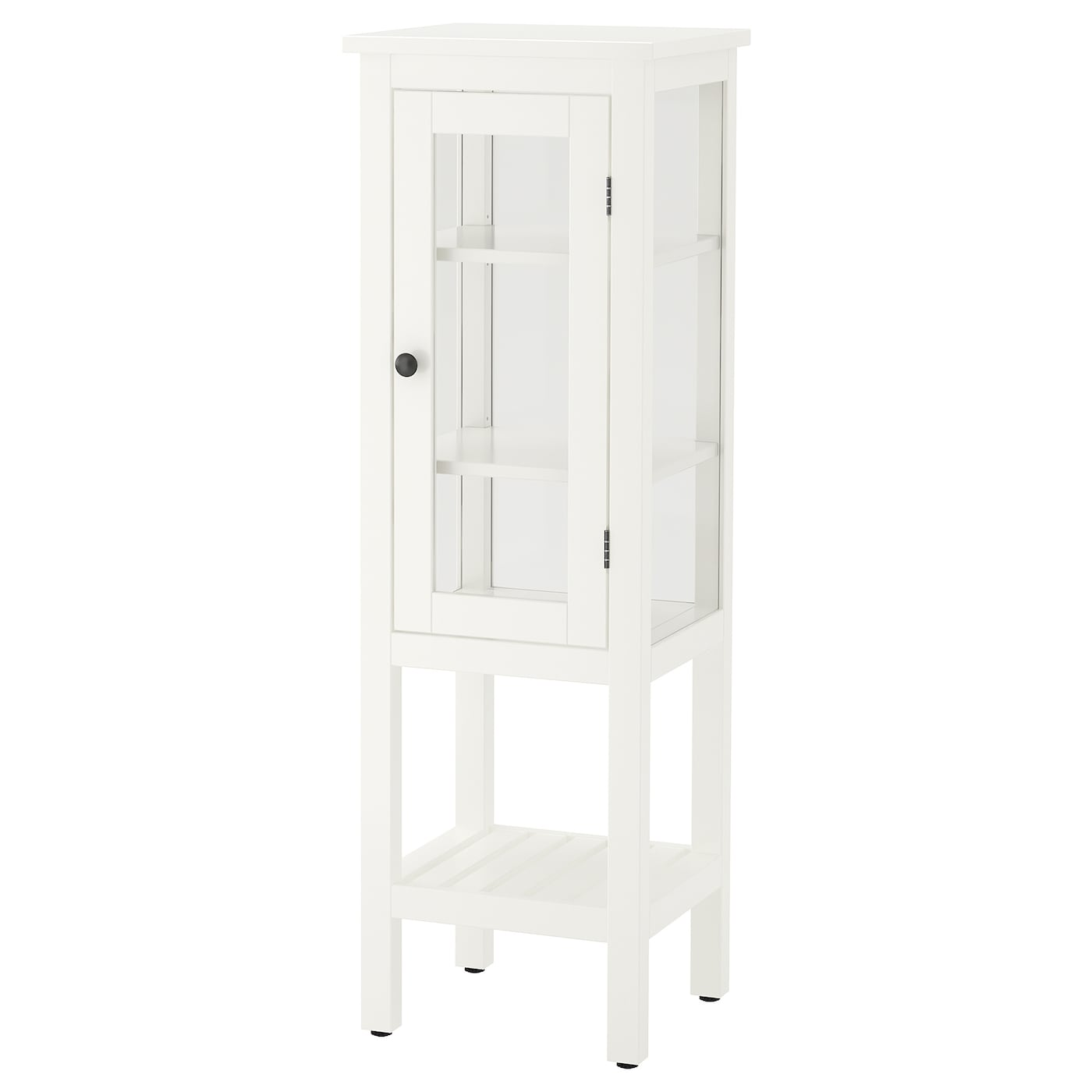 IKEA HEMNES high cabinet with glass door Perfect in a small bathroom.