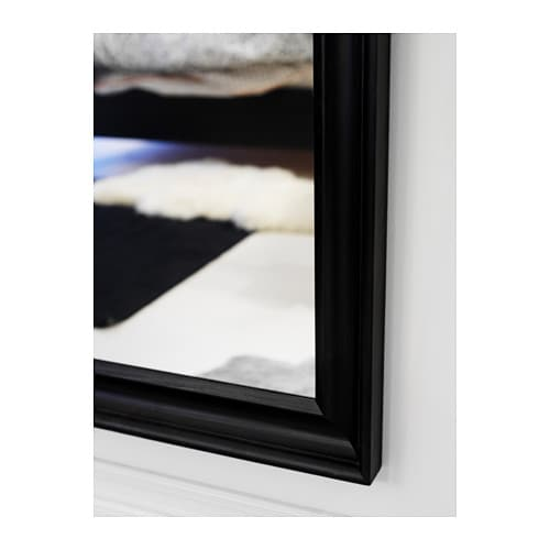 Hemnes mirror black brown 74x165 cm ikea for Miroir ikea noir