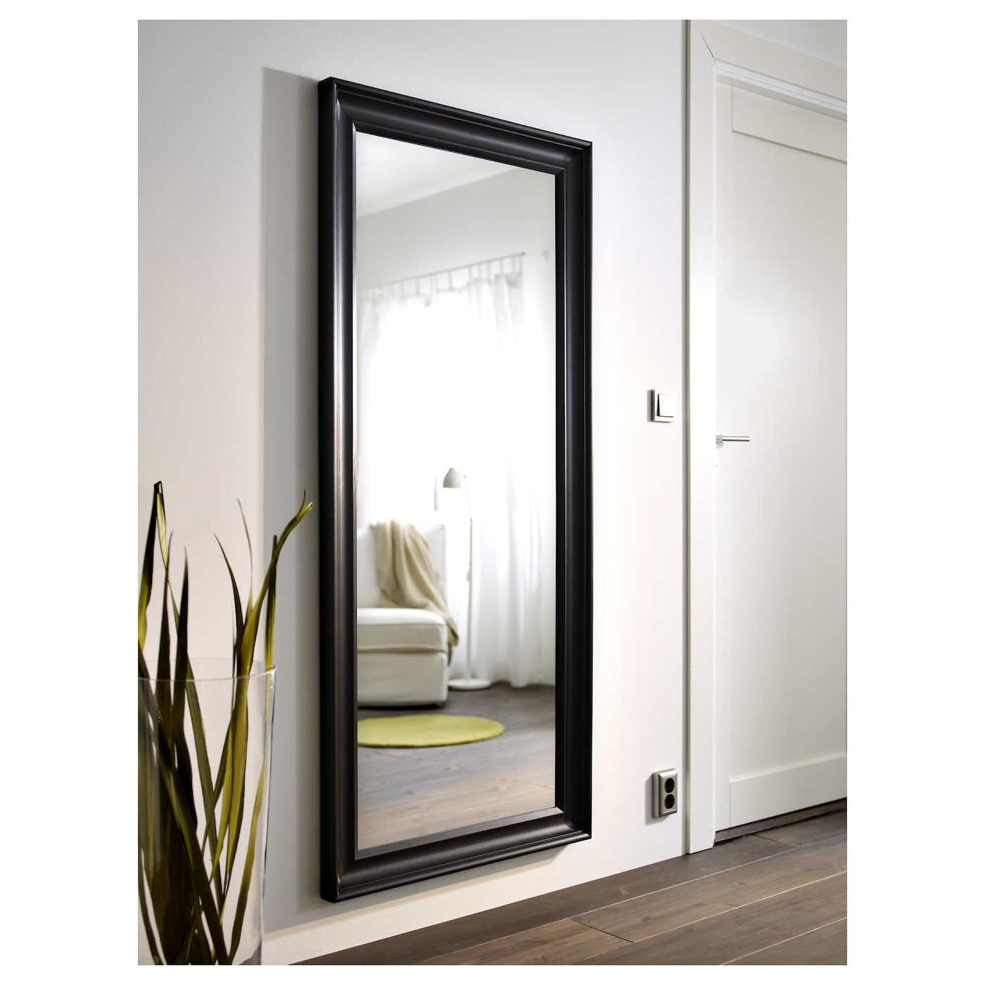 Hemnes mirror black brown 74x165 cm ikea for Where can i find mirrors