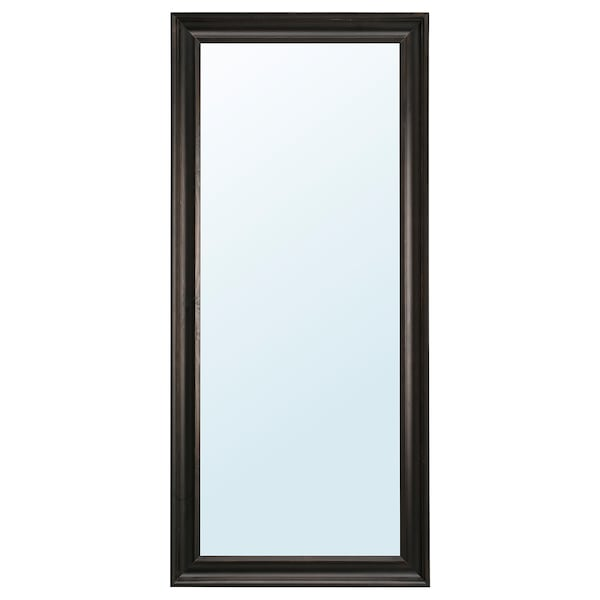 HEMNES black brown, Mirror, 74x165 cm