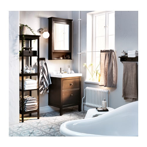 Ikea Aneboda Kommode Neupreis ~ HEMNES Mirror cabinet with 1 door Black brown stain 63x16x98 cm  IKEA