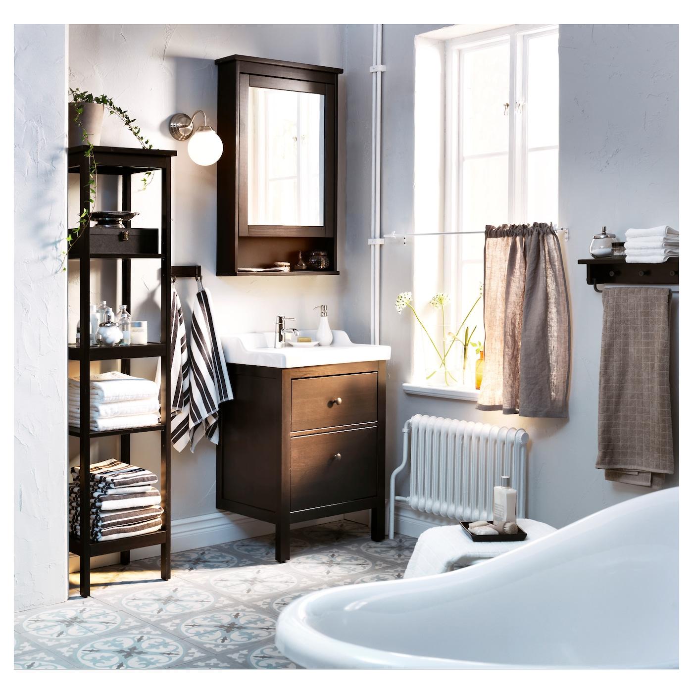 HEMNES Mirror Cabinet With 1 Door Black-brown Stain 63x16x98 Cm