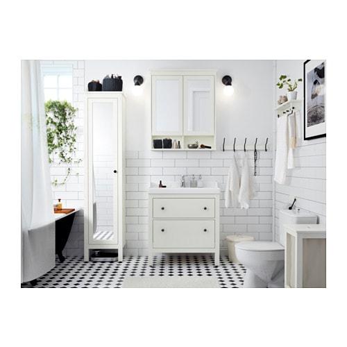 Ikea spiegelschrank hemnes  HEMNES Mirror cabinet with 2 doors White 83x16x98 cm - IKEA