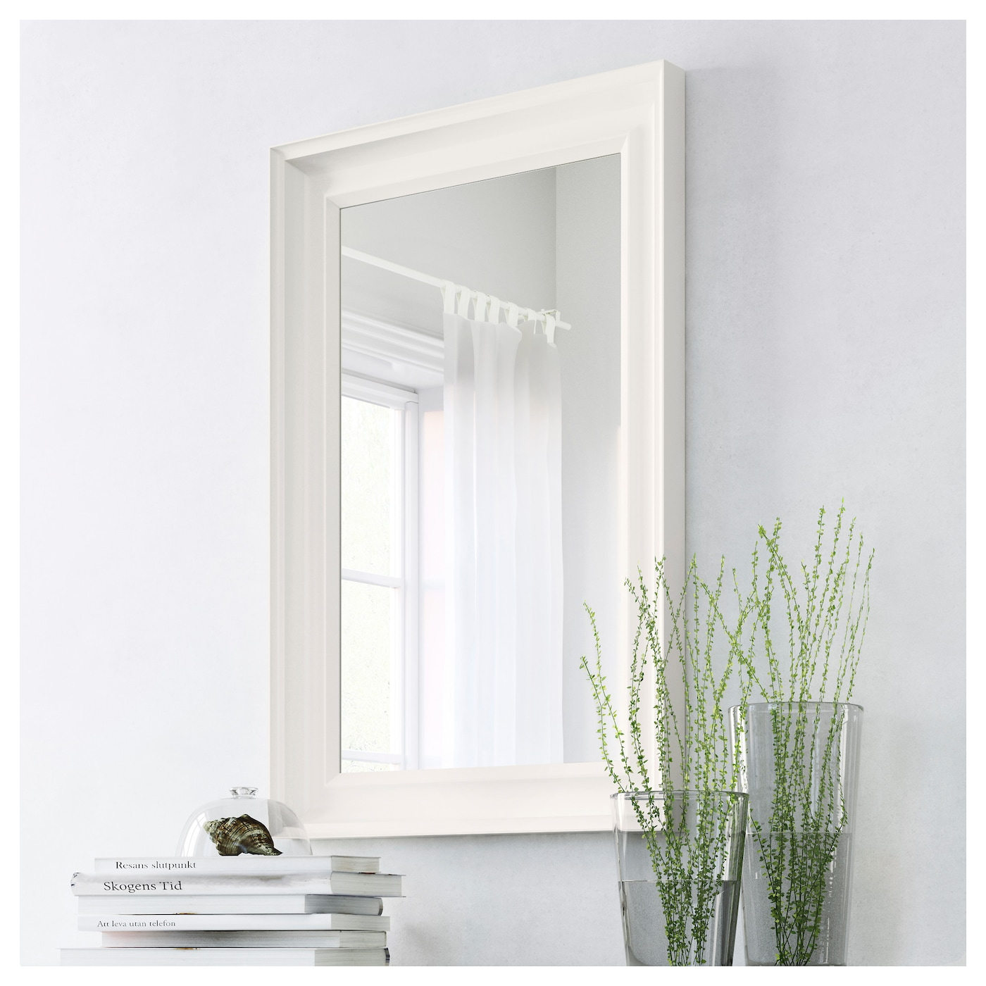IKEA HEMNES mirror Can be hung horizontally or vertically.