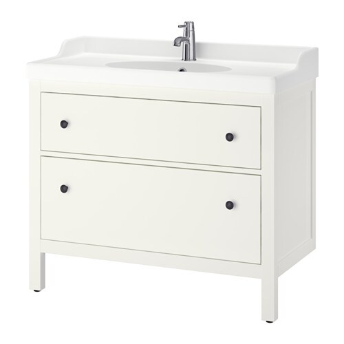 hemnes r ttviken wash stand with 2 drawers white 100x49x89 cm ikea. Black Bedroom Furniture Sets. Home Design Ideas