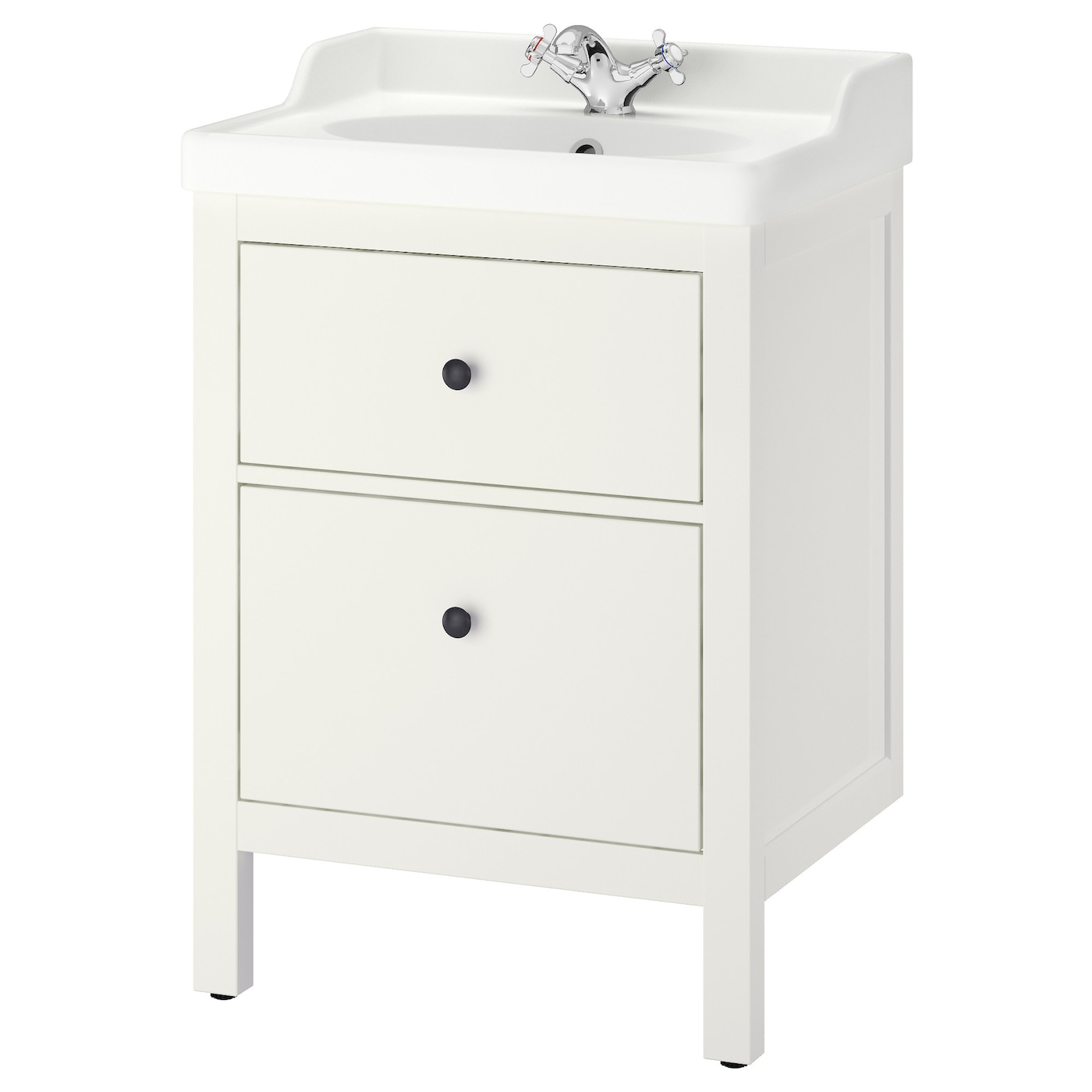 HEMNES  R u00c4TTVIKEN Wash stand with 2 drawers White 60x49x89 cm   IKEA