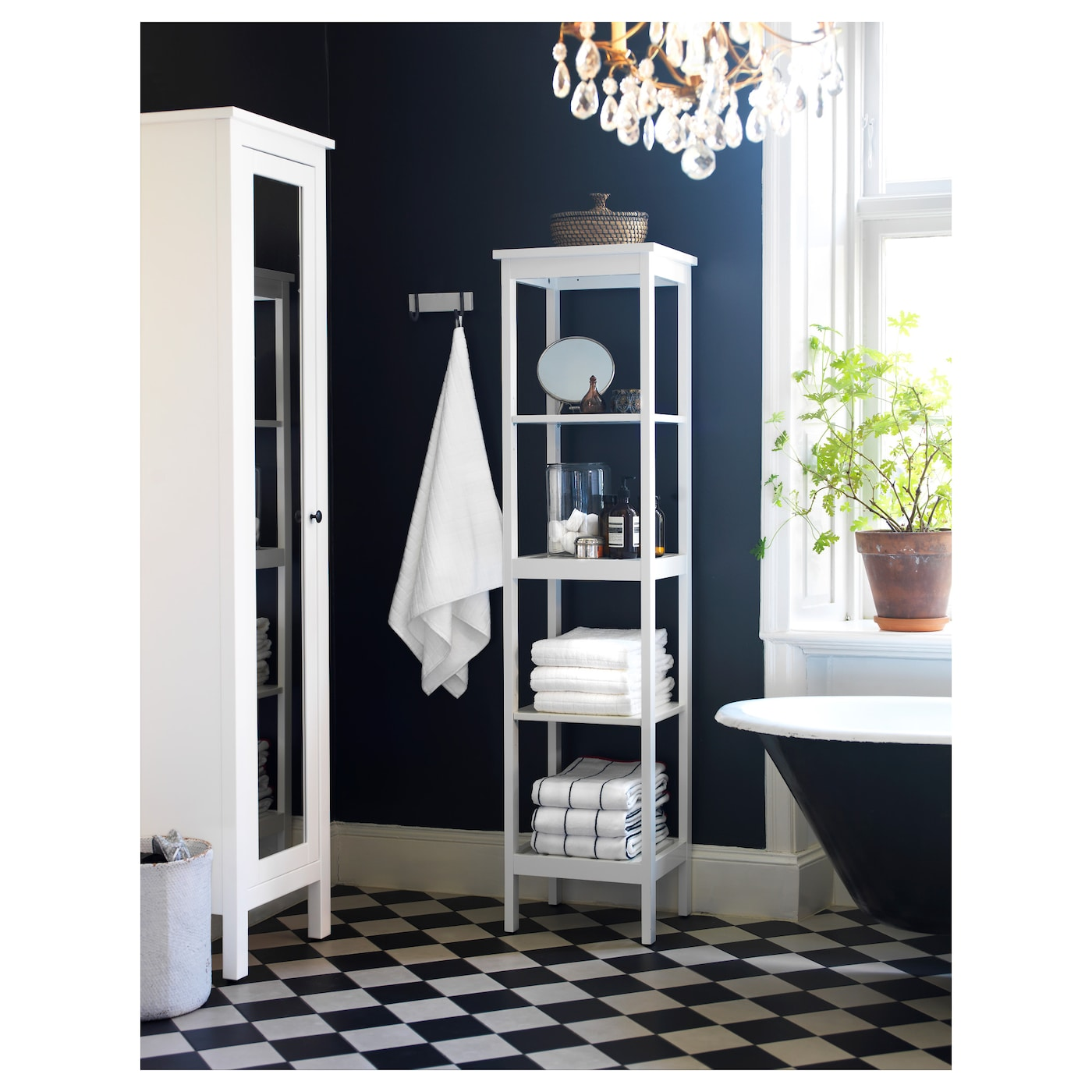 Shelving units for bathrooms - Ikea Hemnes Shelving Unit The Open Shelves Give An Easy Overview And Easy Reach