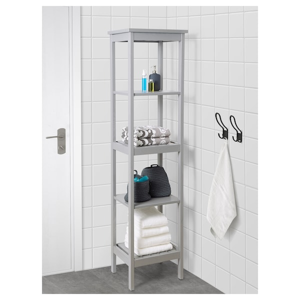Hemnes Grey Shelving Unit 42x172 Cm