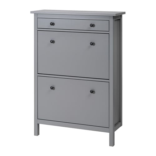 hemnes shoe cabinet with 2 compartments grey 89 x 127 cm ikea rh ikea com hemnes shoe cabinet ikea dubai hemnes shoe storage ikea