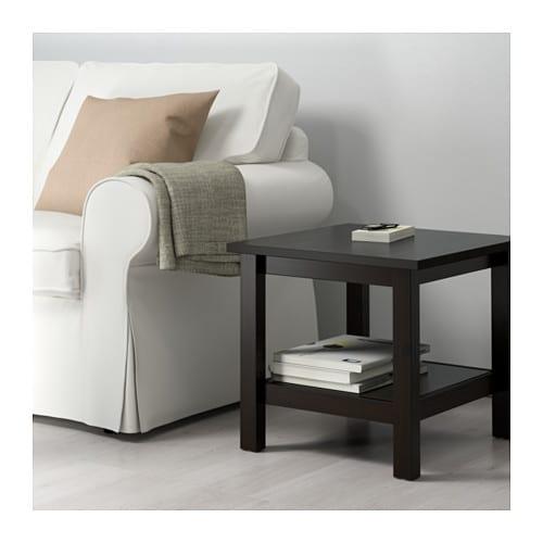 Hemnes side table black brown 55x55 cm ikea - Table basse transformable en table haute ikea ...