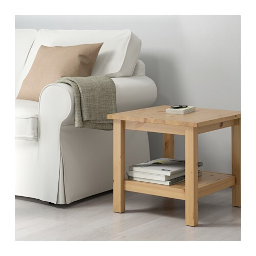 Hemnes Coffee Table Light Brown 118x75 Cm: HEMNES Side Table Light Brown 55x55 Cm