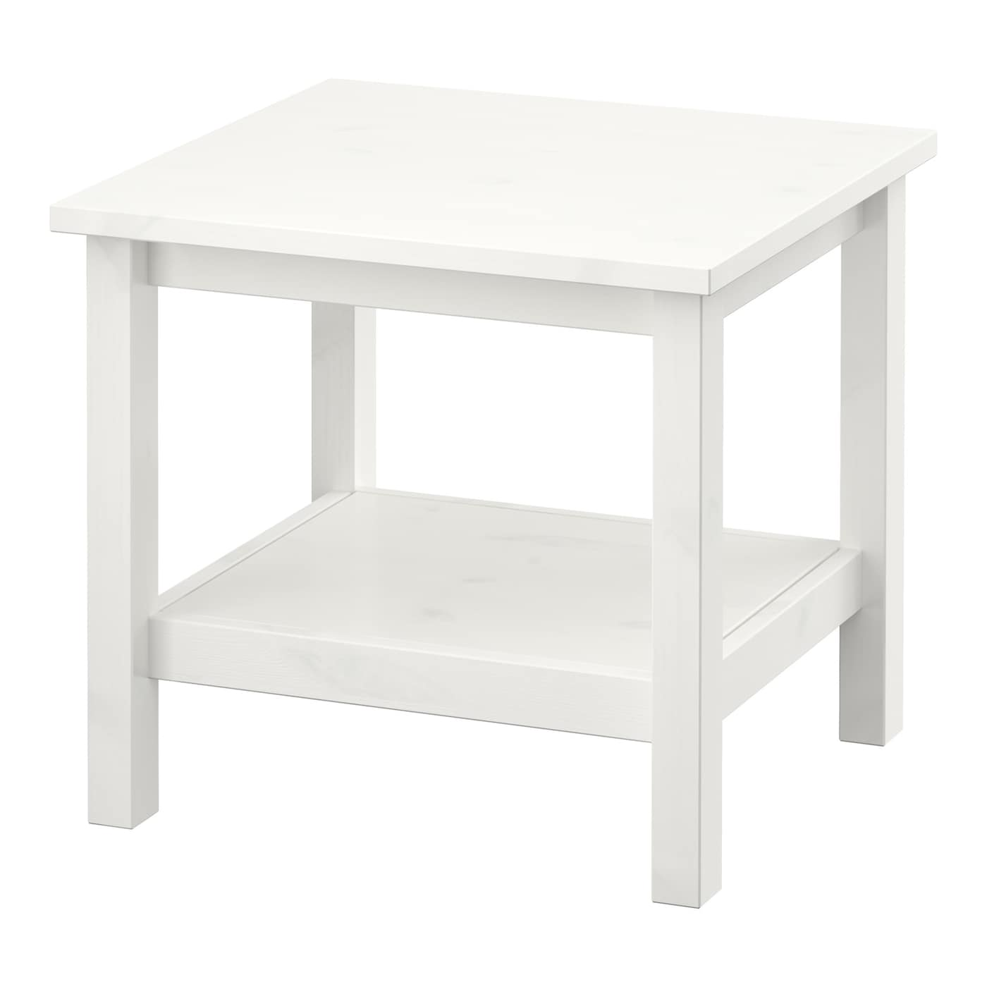 Hemnes side table white stain 55 x 55 cm ikea for Ikea comodino hemnes