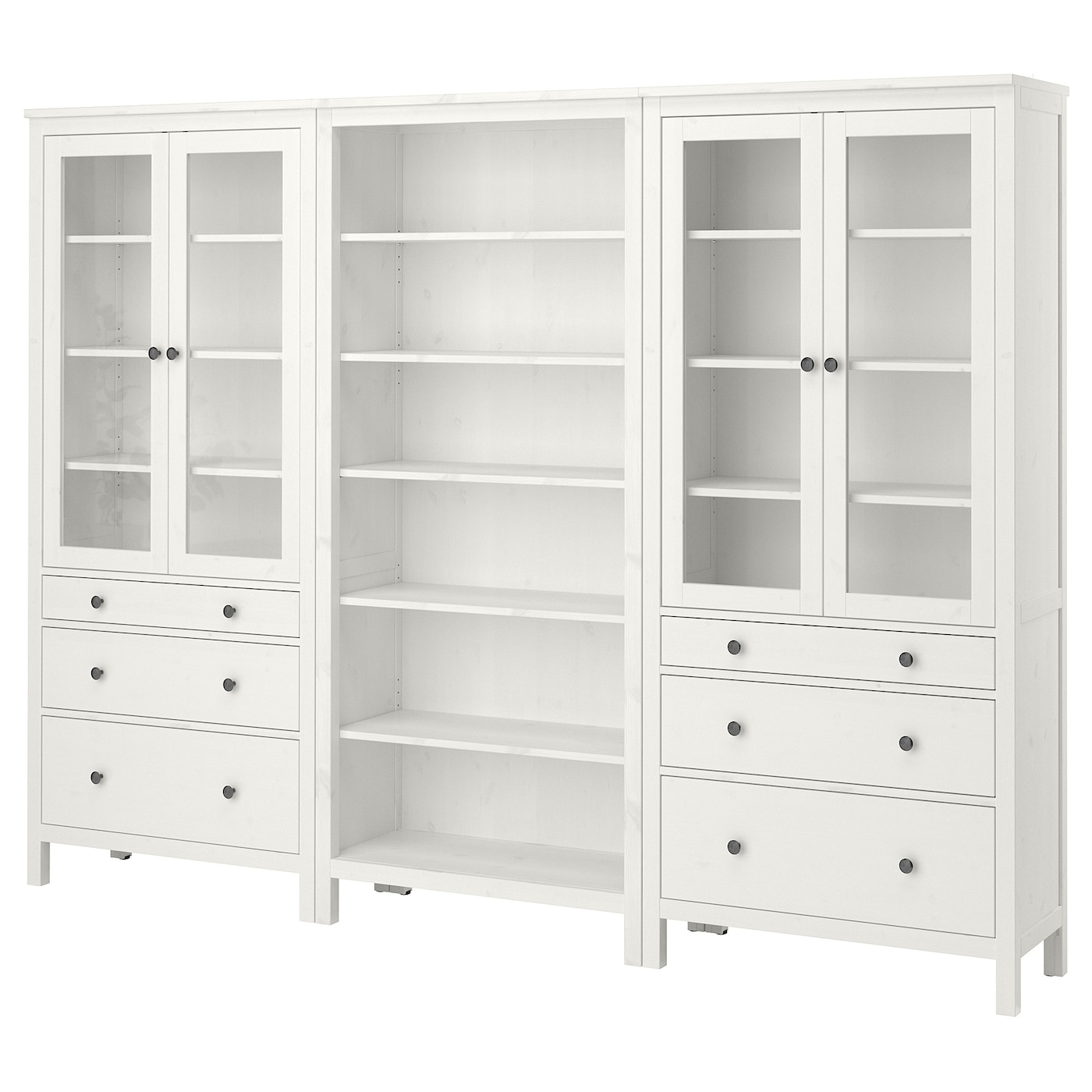 Ikea hemnes storage combination w doors drawers solid wood has a natural feel
