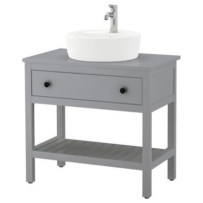 HEMNES / TÖRNVIKEN Open wash-stand with 45 wash-basin, grey/Voxnan tap, 82x48x90 cm