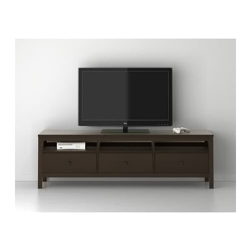 hemnes tv bench black brown 183x47 cm ikea. Black Bedroom Furniture Sets. Home Design Ideas