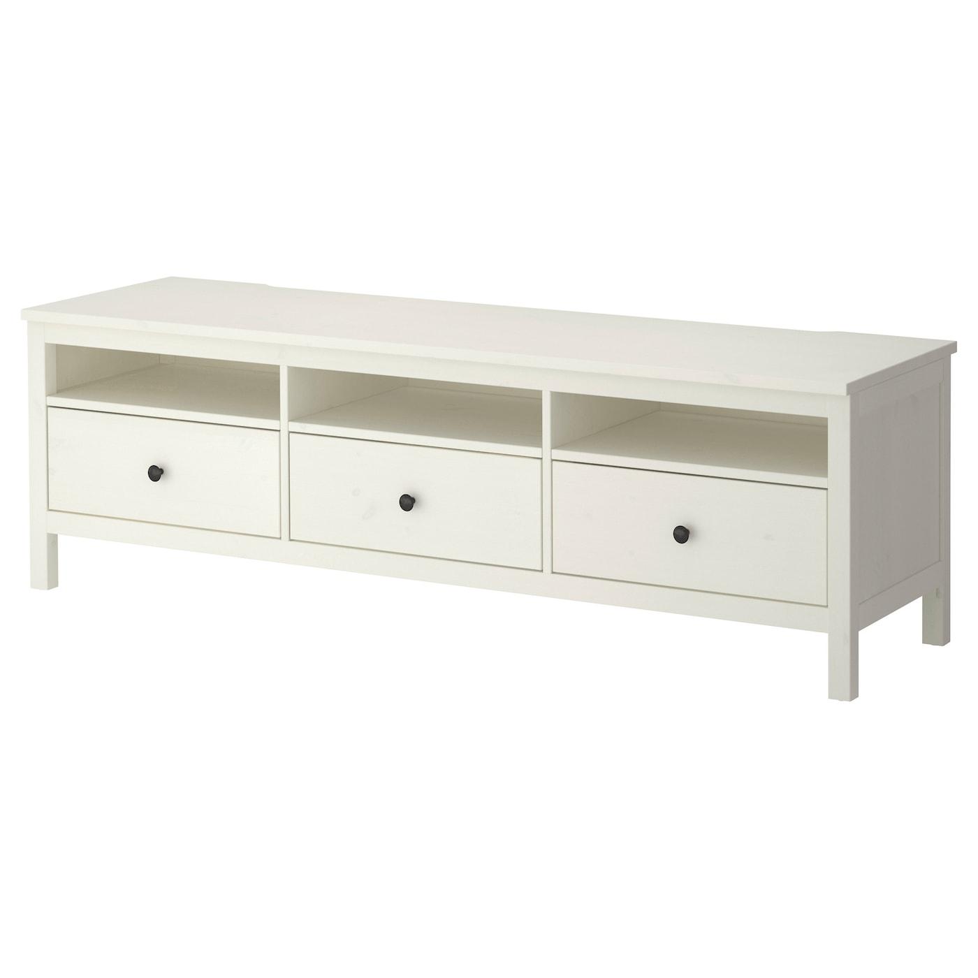 HEMNES TV bench White stain 183x47 cm IKEA