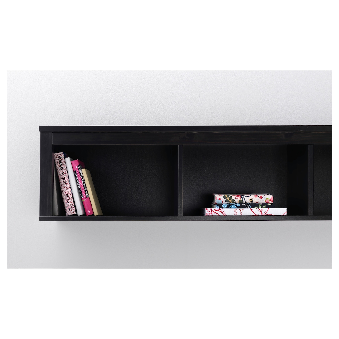 hemnes wall bridging shelf black brown 148x37 cm ikea. Black Bedroom Furniture Sets. Home Design Ideas