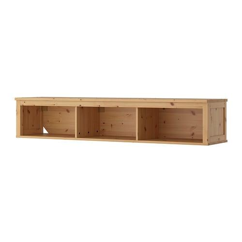 HEMNES Wall bridging shelf Light brown 183x37 cm IKEA