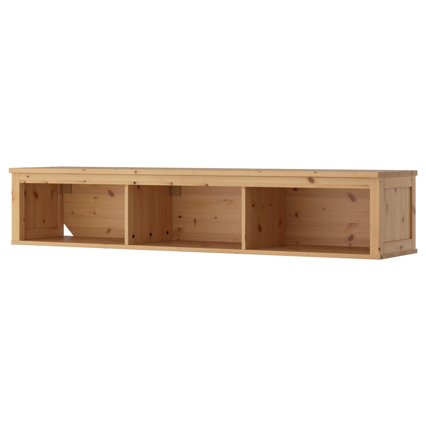 Hemnes wall bridging shelf light brown 183x37 cm ikea - Ikea tablette salle de bain ...