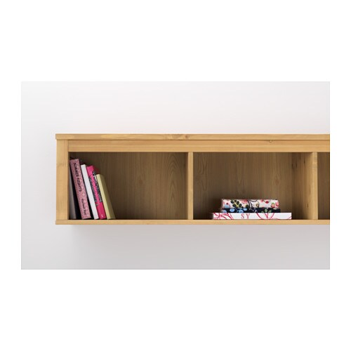HEMNES Wall bridging shelf Light brown 149×37 cm IKEA