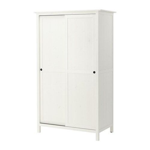 HEMNES Wardrobe with 2 sliding doors white stain IKEA