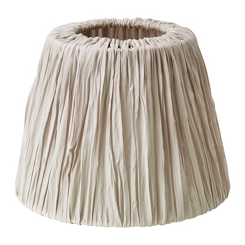 HEMSTA Lamp shade IKEA The textile shade provides a diffused and decorative light.