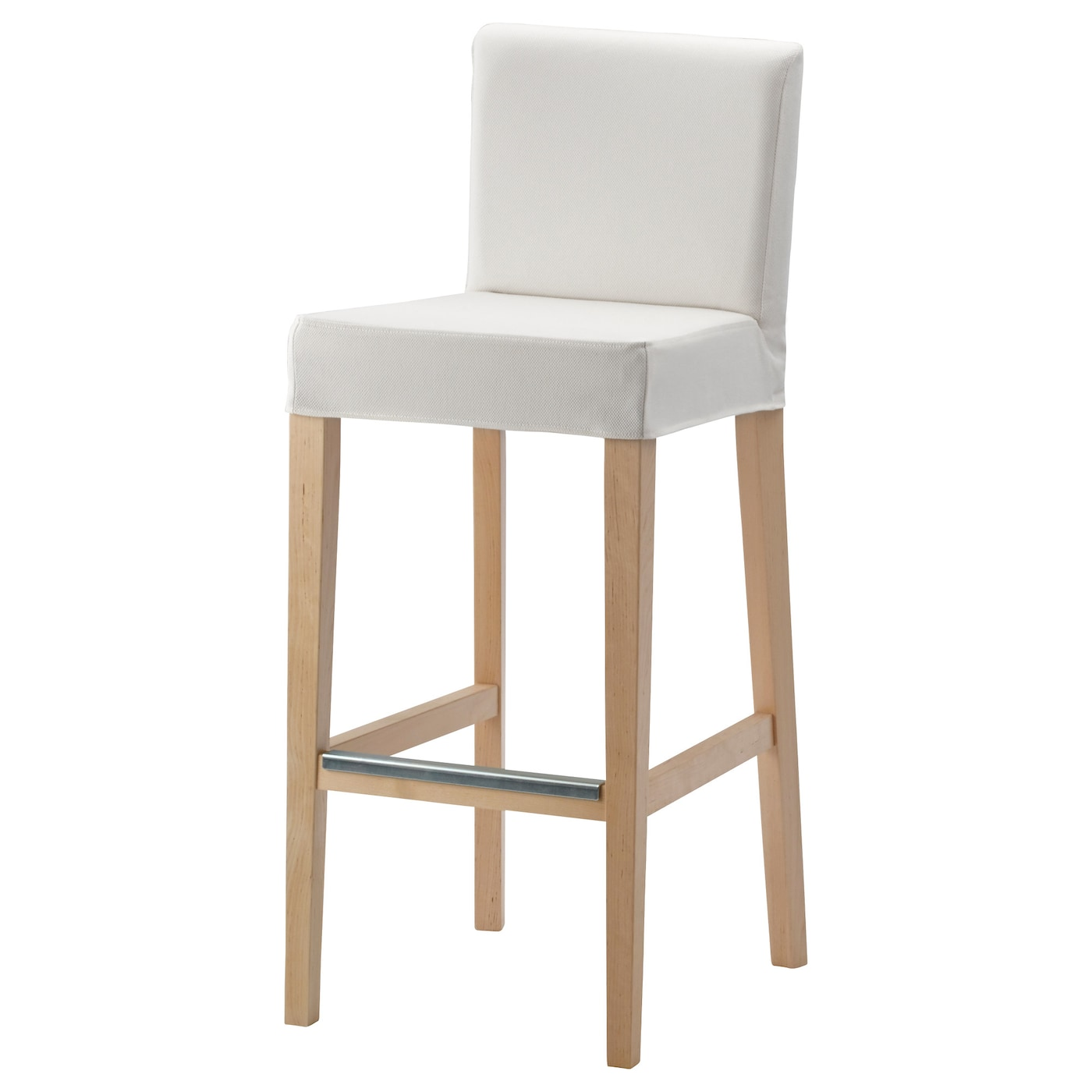 henriksdal bar stool with backrest birch gr sbo white 74 cm ikea. Black Bedroom Furniture Sets. Home Design Ideas